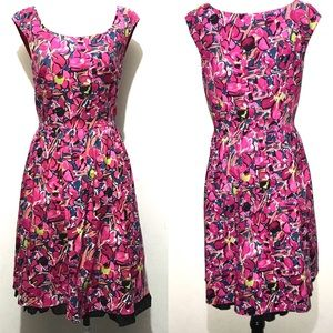 Ann Taylor Factory Pink Floral Print Dress SZ 6